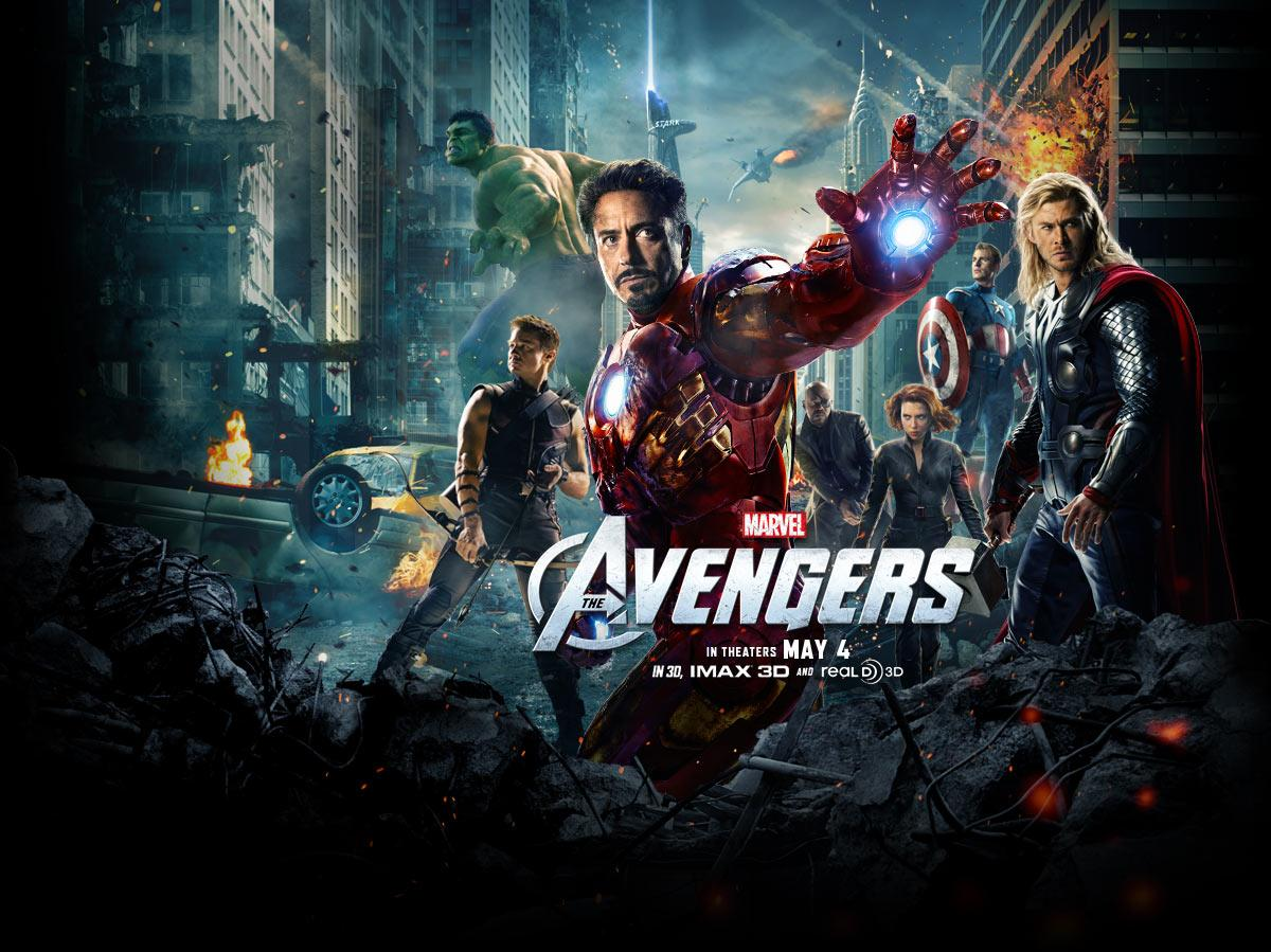 """2012 Movie Poster: New """"Avengers"""" Poster Is Now A Desktop Wallpaper."""